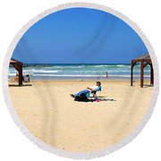 Life After 60.. Round Beach Towel