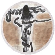 Life And Death Round Beach Towel