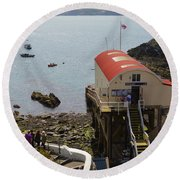 Life Boat Station Round Beach Towel