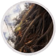 Life By The River Round Beach Towel by David Lee Thompson