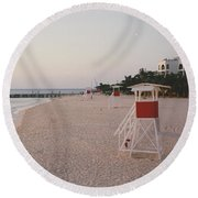 Life Guard 3 D  Round Beach Towel