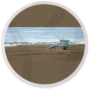Life Guard Stand - Color Round Beach Towel