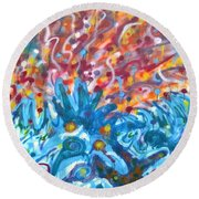 Life Ignition Mural V2 Round Beach Towel