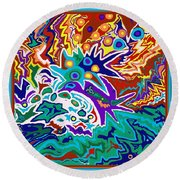 Life Ignition Option 2 With Borders Round Beach Towel