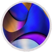Life In Color Round Beach Towel