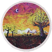 Life In Decay Round Beach Towel