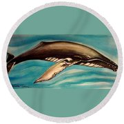 Life In The Ocean Round Beach Towel