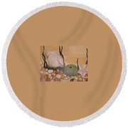 Life In The Sea Round Beach Towel