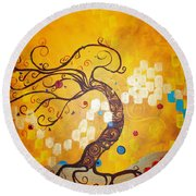 Life Is A Ball Round Beach Towel
