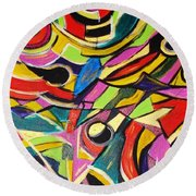 Life Is A Puzzle Round Beach Towel