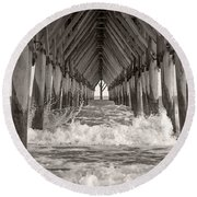 Life Is Good On Topsail Scp Round Beach Towel