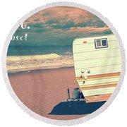 Life Is Short Buy The Beach House Mug Round Beach Towel