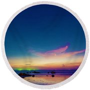 Life Is Simple Just Add Water Round Beach Towel