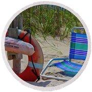 Life Saver Round Beach Towel