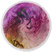 Life Vibrations Round Beach Towel
