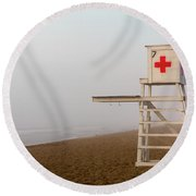 Lifeguard Chair Round Beach Towel
