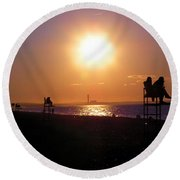 Lifeguard Chairs Round Beach Towel