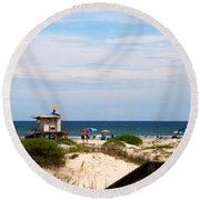 Lifeguard On Duty Round Beach Towel