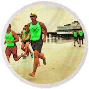 Lifeguard Runners Round Beach Towel