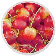 Life's A Bowl Of Cherries Round Beach Towel