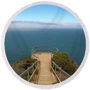 Life's Lookout Round Beach Towel