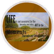 Life's Moments Round Beach Towel