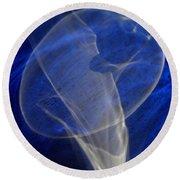 Light And Blue Disc No.106, Thu--17sep2015 Round Beach Towel