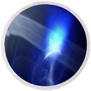 ''light And Blue Disc No.119'', Fri--18sep2015 Round Beach Towel