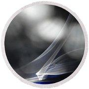 ''light And Blue Disc No.86'', Mon--14sep2015 Round Beach Towel
