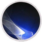 ''light And Blue Disc No.98'', Thu--17sep2015 Round Beach Towel