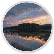 Light And Dark Round Beach Towel