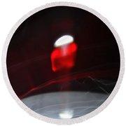 ''light And Red Disc No.18'', Sun--27sep2015 Round Beach Towel