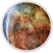 Light And Shadow In The Carina Nebula Round Beach Towel
