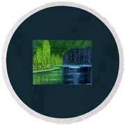Light And Shadow Round Beach Towel