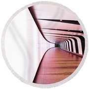 Light At End Of Tunnel Round Beach Towel