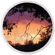 Light At The End Of The Storm  Round Beach Towel