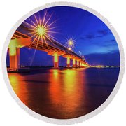 Light Bridge Round Beach Towel