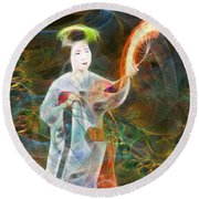 Light Dance Round Beach Towel