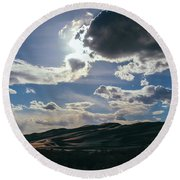 Light In The Distance Round Beach Towel
