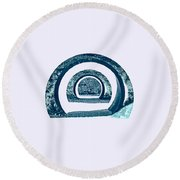 Light In The Tunnel 2 Round Beach Towel