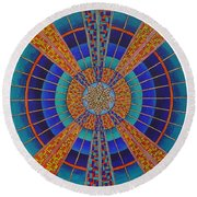 Light Of Knowing Round Beach Towel