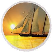 Light Of Life Round Beach Towel by Corey Ford