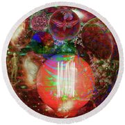 Light Of Man Multidimentional Sight Round Beach Towel by Joseph Mosley