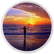 Light Of My Life Round Beach Towel