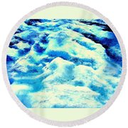 Light On Glacier Round Beach Towel