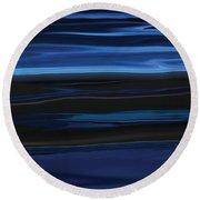 Light On The Horizon Round Beach Towel
