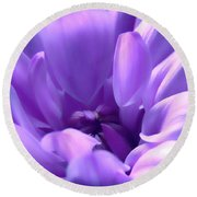 Light Purple Beauty Round Beach Towel