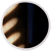 Light Rays Round Beach Towel