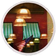Light Reflection Nyc Canopy  Round Beach Towel