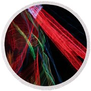 Light Ribbons Round Beach Towel